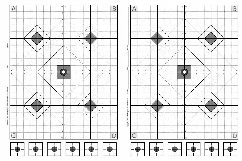 24×36 Printable Pistol Target for Download | Bullet Blog